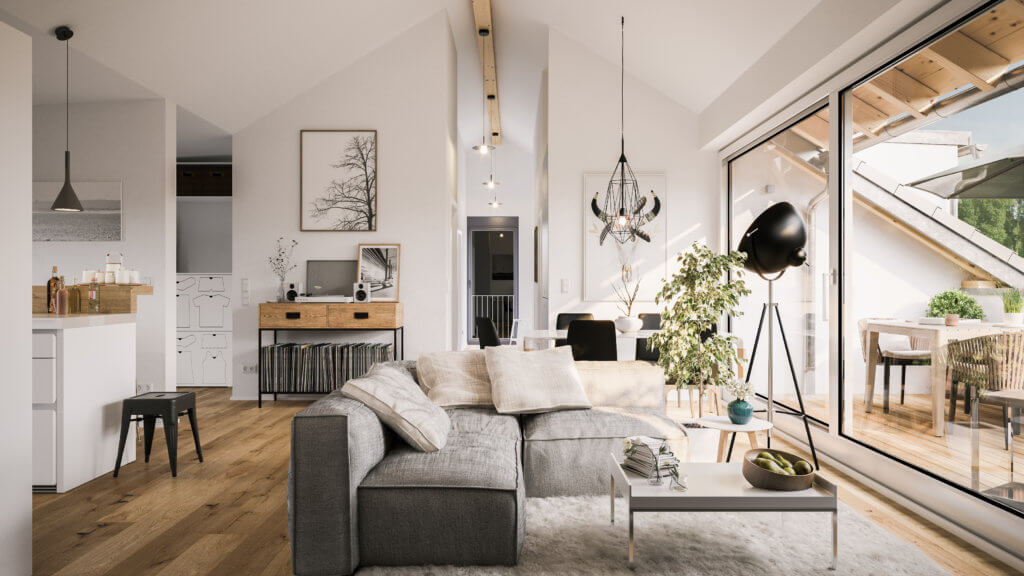 modern luxury attic loft apartment